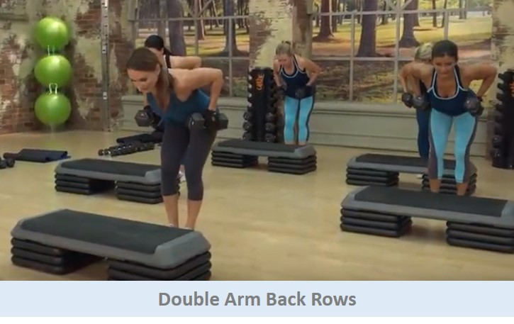 Double arm back rows