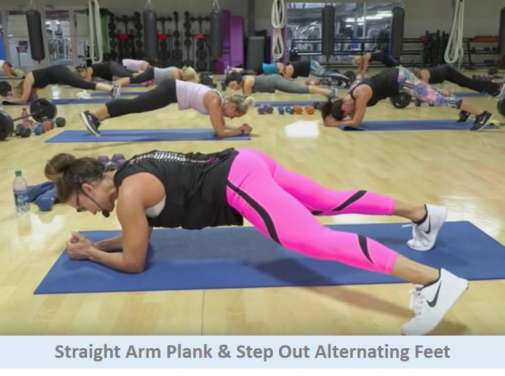 Plank Stepping Out Alternating Feet
