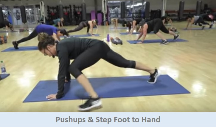 Pushups & Step Foot to Hand
