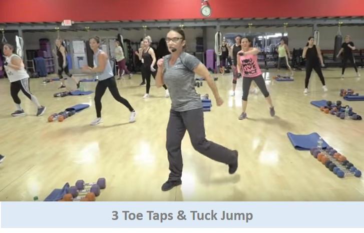 3 Toe Taps & Tuck Jump