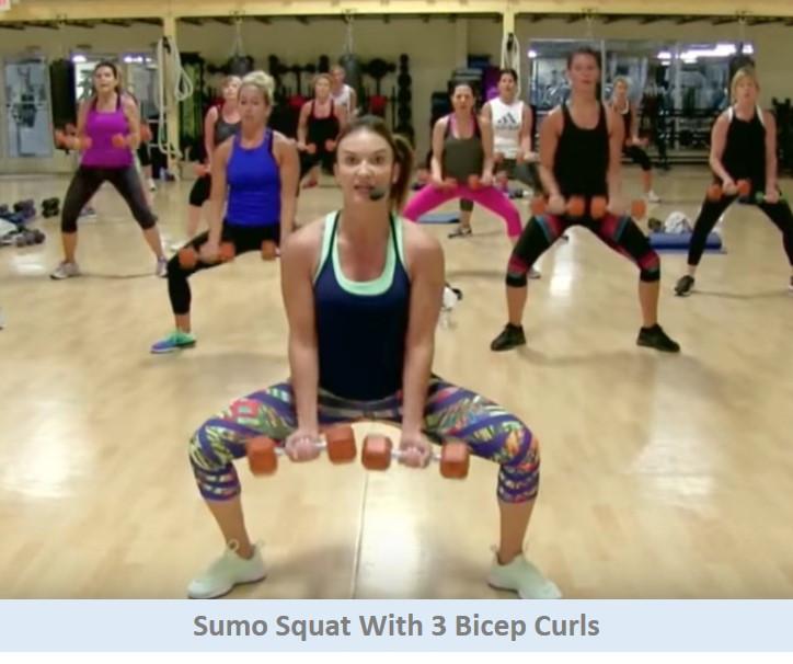 Sumo Squat with Bicep Curls