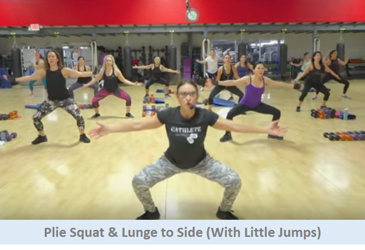 Plie squat to lunge to side