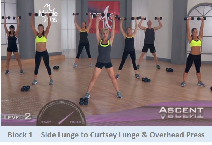Side Lunge to Curtsey Lunge & Overhead Press