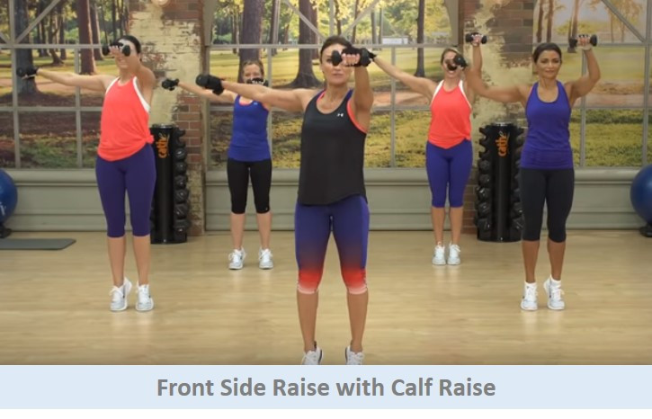 Front side raise with calf raise