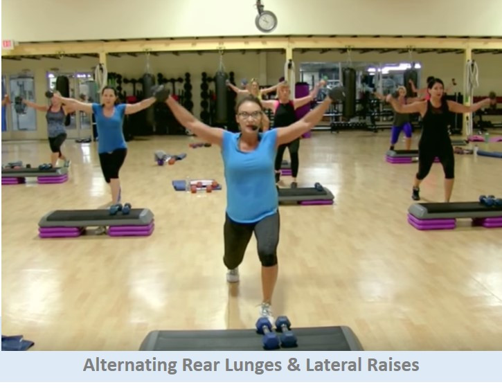 Rear Lunges & Lateral Raises
