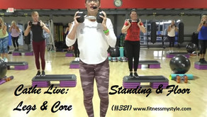 Cathe Live Review: Standing & Floor Legs & Core (#350)