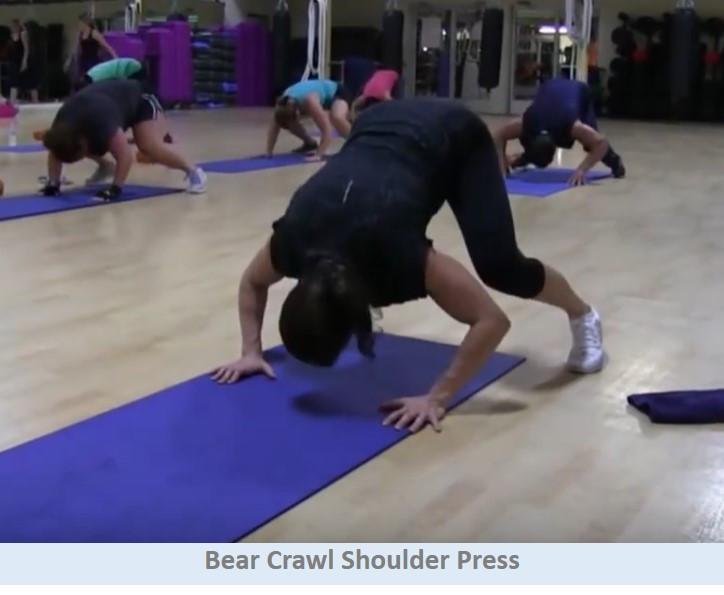 Bear Crawl Shoulder Press