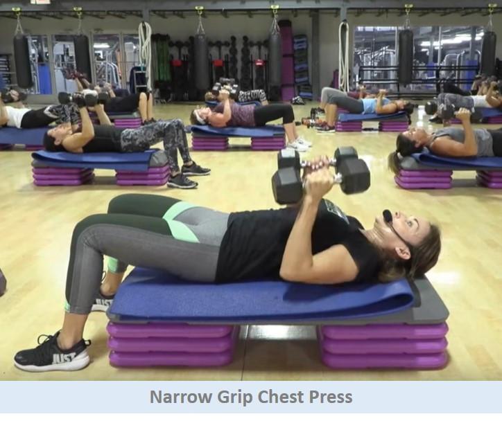 Narrow grip chest press