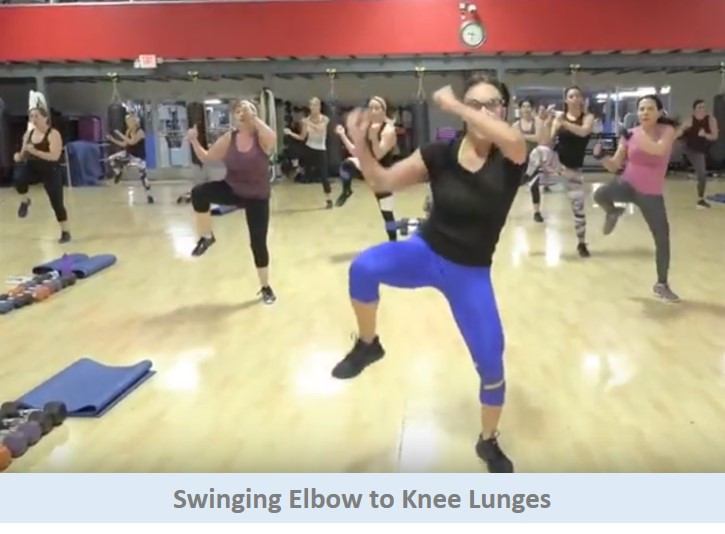 Swinging Elbow to Knee Lunges