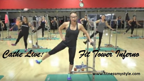 Cathe Live: Fit Tower Inferno – A Tough Total Body Workout That You Can Do Without The Fit Tower!