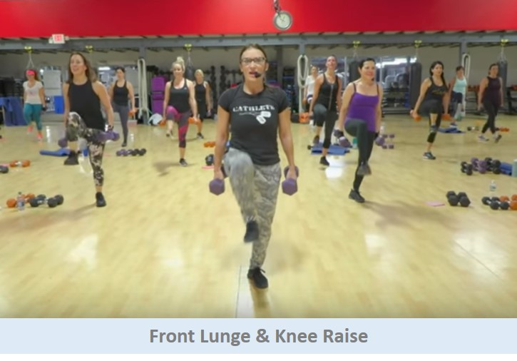 Front lunge & knee raise