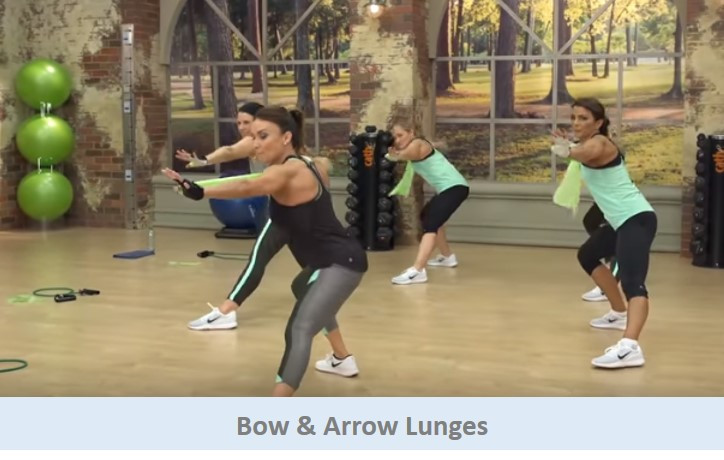 Bow and arrow lunges