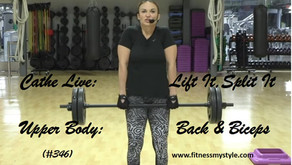 Cathe Live Review: Lift It, Split It Upper Body: Back & Biceps (#346)