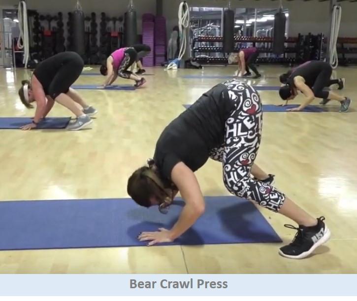 Bear crawl press