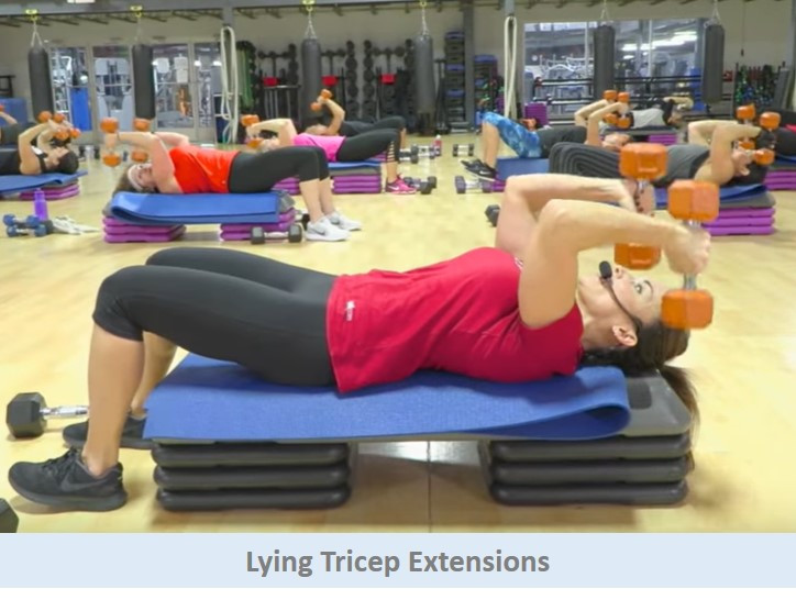 Lying Tricep Extensions