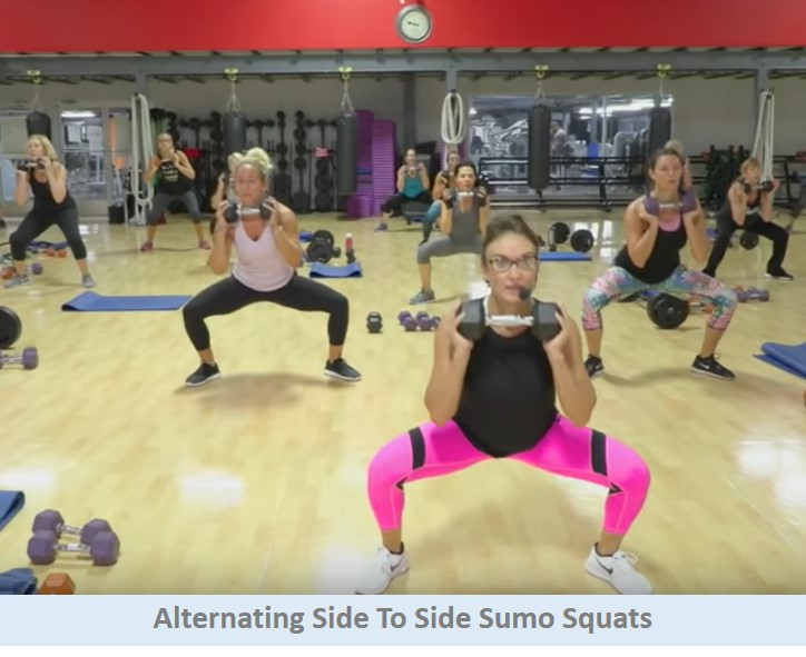 Alternating Side To Side Sumo Squats