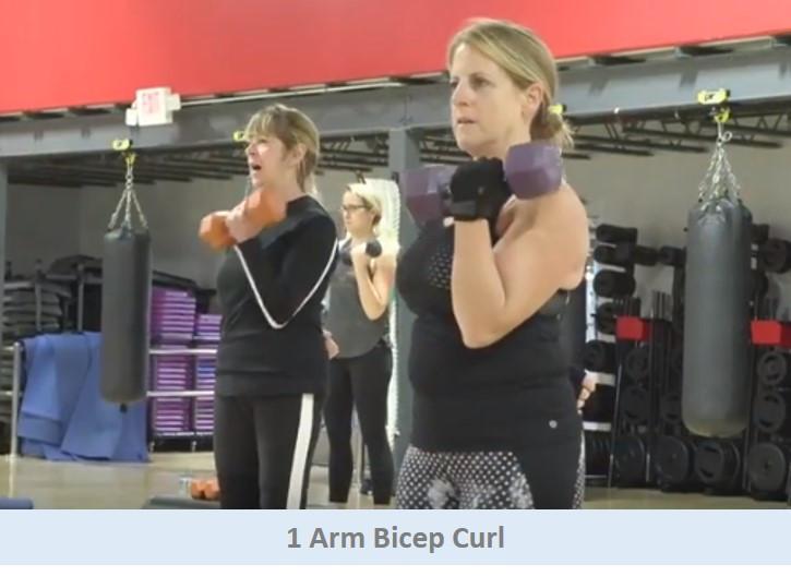 1 Arm Bicep Curls