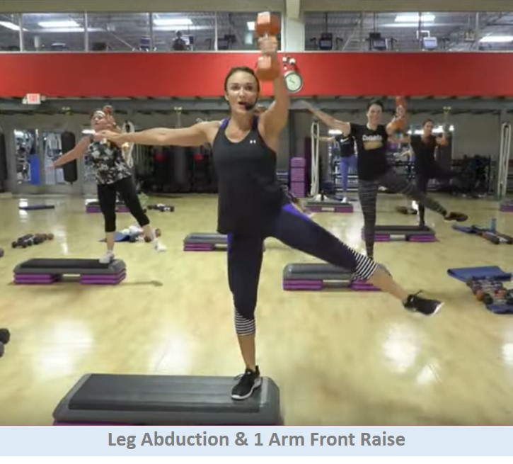 Leg Abduction & 1 Arm Front Raise