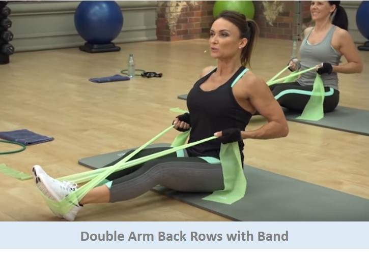 Double Arm Back Rows with Band