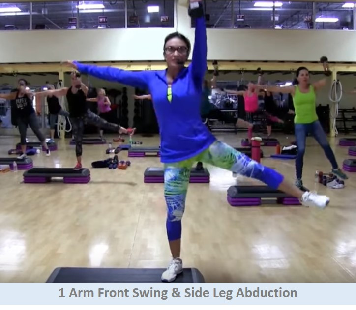 Front swing & leg abduction