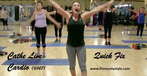 Cathe Live Review: Quick Fix Cardio (#147)