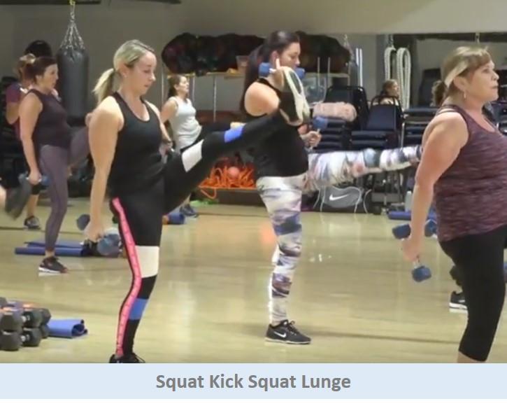 Squat Kick Squat Lunge