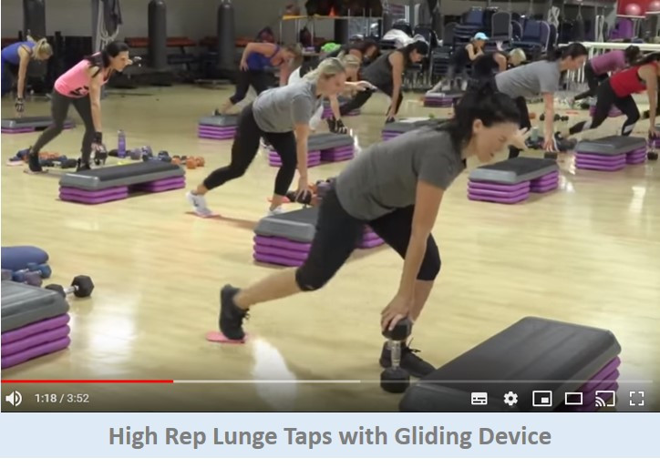 High Rep Lunge Taps