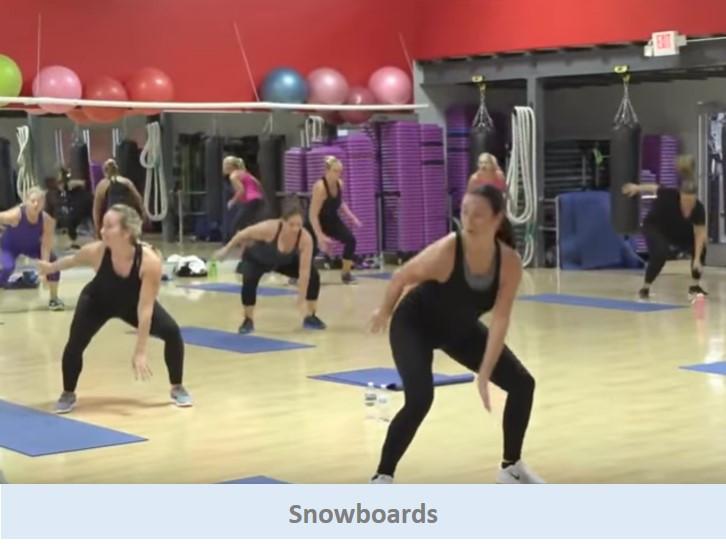 Snowboards. Cardio move