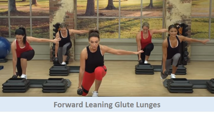 Forward Leaning Glute Lunges