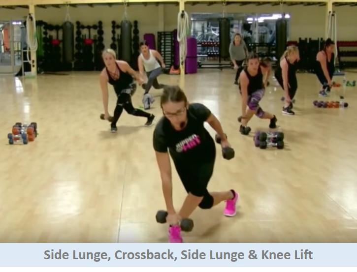Side Lunge, Crossback, Side Lunge