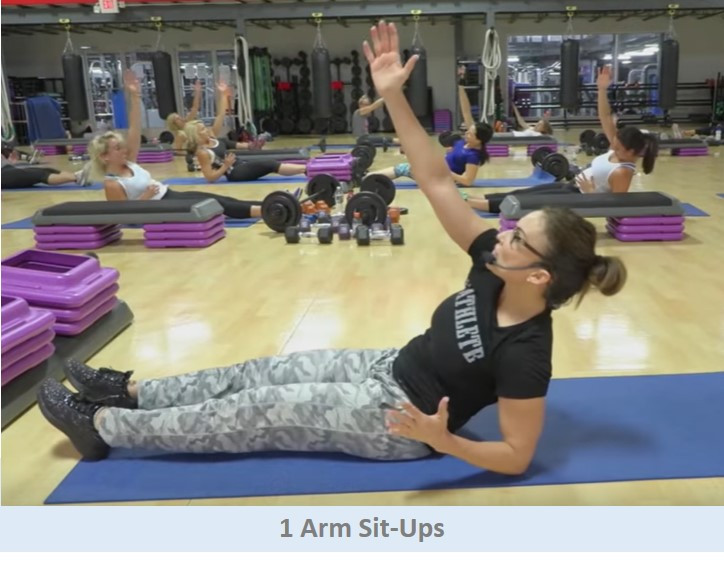 1 Arm Situps