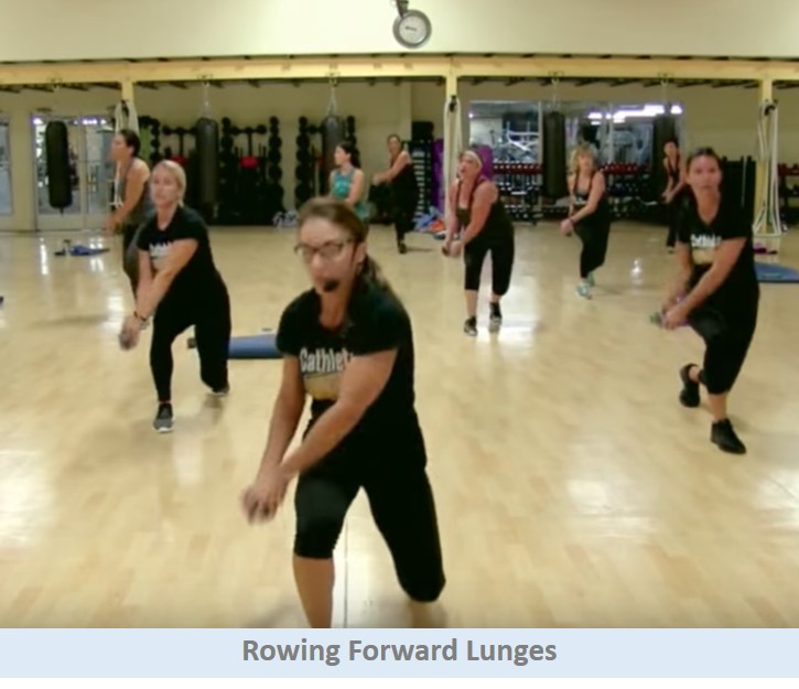 Rowing Forward Lunge
