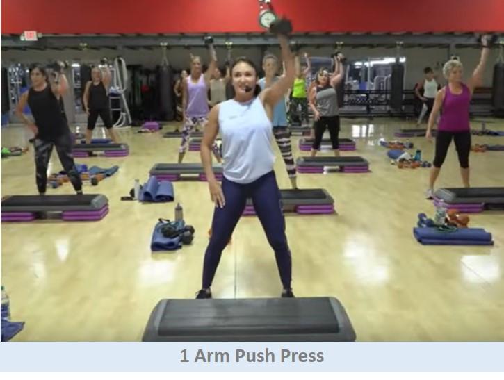 1 Arm Push Press