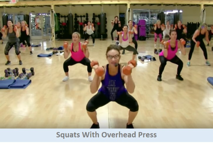 Squats with overhead press