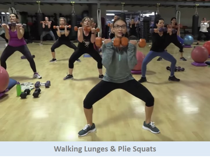 Walking Lunges To Plie Squats
