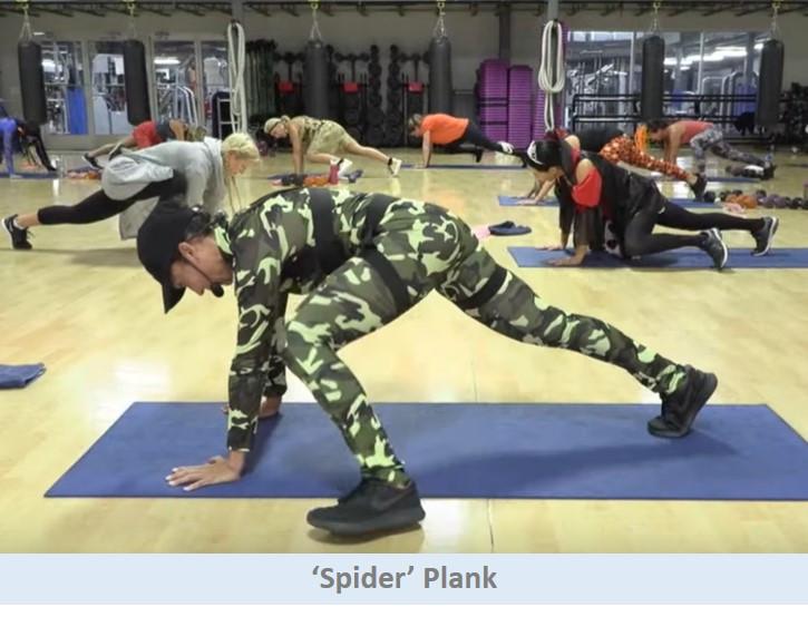 Spider Plank