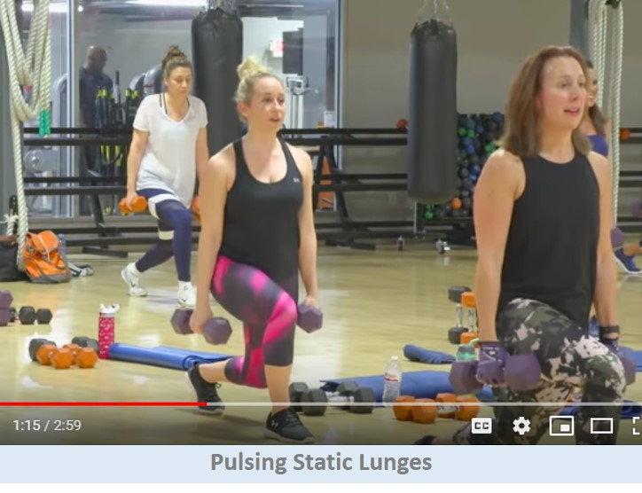 Pulsing static lunges