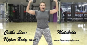 Cathe Live Review: Metabolic Upper Body (#316)