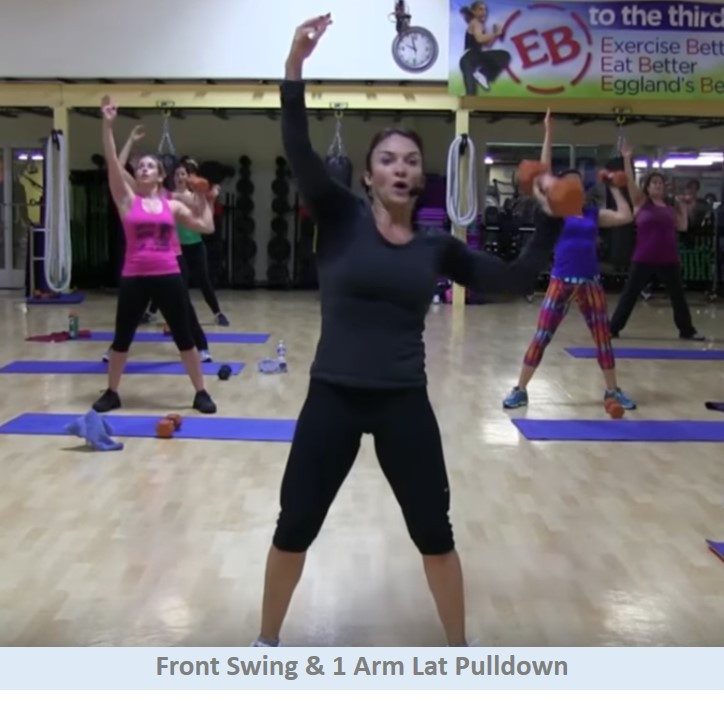 Front swing & 1 arm lat pulldown