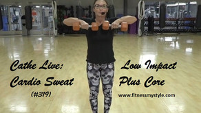 Cathe Live Review: Low Impact Cardio Sweat Plus Core (#319)