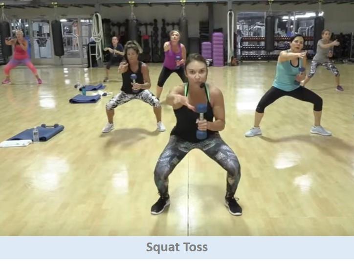Squat toss