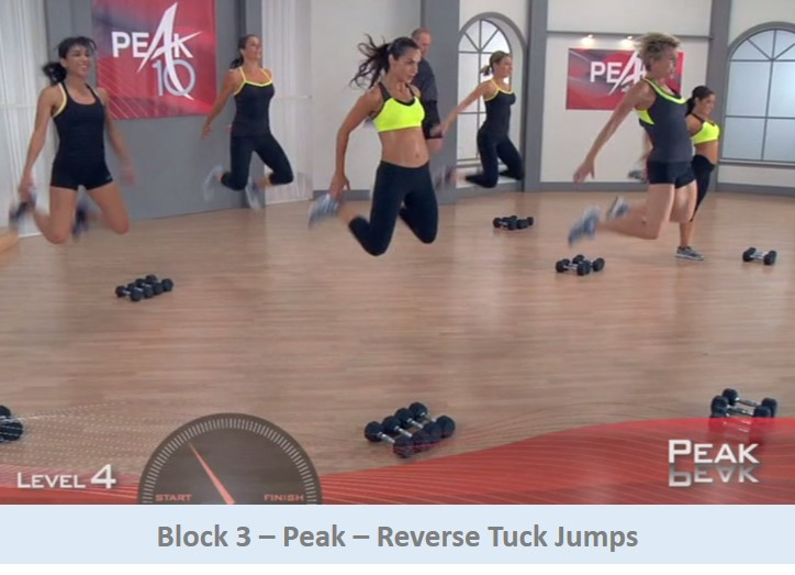 Reverse tuck jumps
