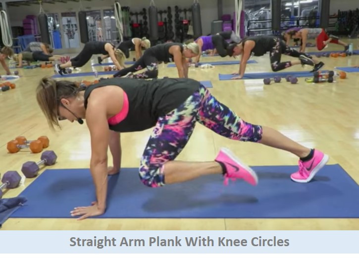 Plank with knee circles