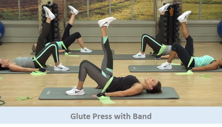 Glute Press with Band