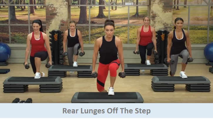 Rear Lunges Off The Step