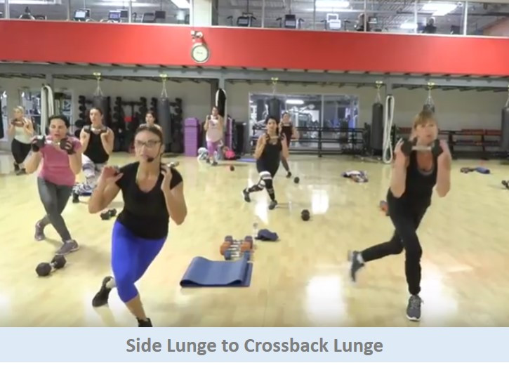 Side Lunge to Crossback Lunge