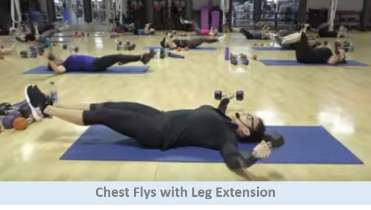 Chest Flys with Leg Extension