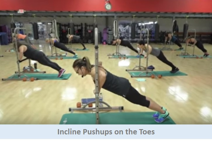 Incline Pushups on the Toes