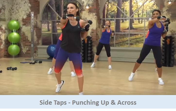 Side taps - punching up & across