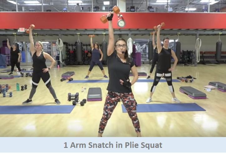 1 Arm snatch in plie squat